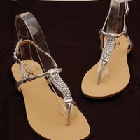 Aphrodite Roman Sandals by Foxy - Gladiator Sandals Roman Flats Choose from Black, White, Gold, Brown