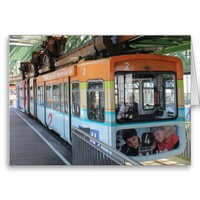 Wuppertal Floating Train / Wuppertaler Schwebebahn Greeting Cards from Zazzle.com