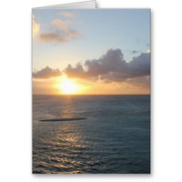 Aruba: Scenic Sunset over the Sea Card from Zazzle.com