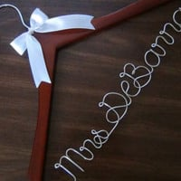 Personalized Keepsake Bridal Hanger, Custom Made Wedding Hangers with Names, Bridal Shower Gift idea,Wedding Photo Props