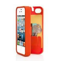 Amazon.com: Orange Case for Iphone 5 with Built-in Storage Space for Credit Cards/id/money, By EYN (Everything You Need): Cell Phones & Accessories