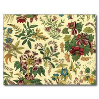 Old Fashioned Floral Abundance Postcards from Zazzle.com