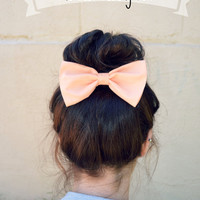 Peach colored Hair Bow