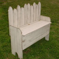Primitive Garden Bench | sonriseacresprimitives - Woodworking on ArtFire