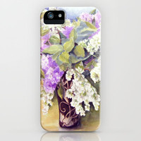 Lilacs bouquet iPhone & iPod Case by Vargamari
