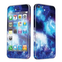 Amazon.com: Apple iPhone 5 Full Body Vinyl Decal Protection Sticker Skin Blue Space By Skinguardz: Cell Phones & Accessories