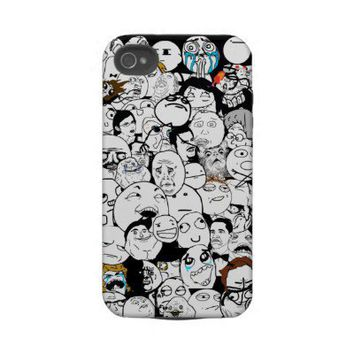 All The Rage Faces  iPhone 4 Case