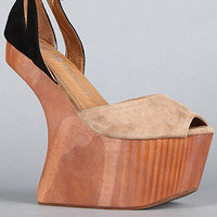Jeffrey Campbell: The Str8up Shoe in Nude and Black Suede