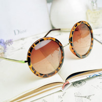 Thin Bar Round Sunglasses A807
