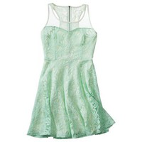 Target : Xhilaration® Juniors Mesh Detail Lace Fit & Flare Dress - Assorted Colors : Image Zoom