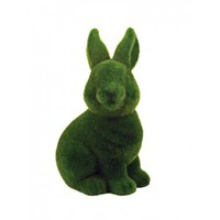 Grass Flocked Coin Bank - Rabbit