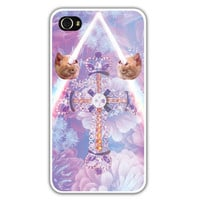 iPhone 4/4s Case - At The Foot Of The Cross - Cat iPhone Case