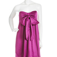 Strapless Bow Dress, Fuchsia
