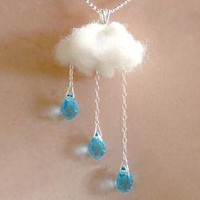 Rain and Cloud ENGLISH SUMMER Necklace by MIXKO on Etsy