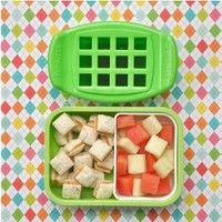 FunBites Set: Squares & Heart - Cuts kids' food into fun-shaped bite-sized pieces . . . Great for picky eaters and bento!