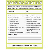 PARKING CITATION NOTES