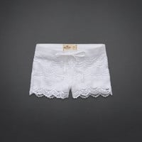Hollister Low Rise Crocheted Short-Shorts