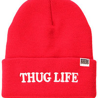 Married to the Mob The Thug Life Beanie in Red : Karmaloop.com - Global Concrete Culture