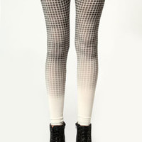 Leanne Check Print Ombre Leggings
