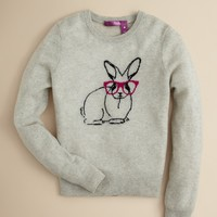 Aqua Girls' Cashmere Bunny Sweater - Sizes S-XL | Bloomingdale's
