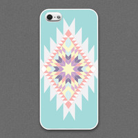 iPhone 5 case - Tribal : ivory, coral, tiffany teal color - iPhone 5 Case, Cases for iPhone 5, Hard iPhone 5 Case