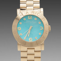 Marc by Marc Jacobs Amy Watch in Gold with Turquoise Face from REVOLVEclothing.com
