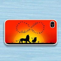 Infinity Hakuna matata : Case For Iphone 4/4s ,5 /Samsung S2,3,4