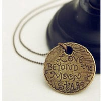 Vintage Letters Pendant Necklace at Online Jewelry Store Gofavor