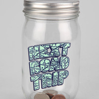 Mason Jar Bank- Charcoal One