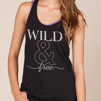 Wild & Free Animal Rescue Organic Racerback Tank Top