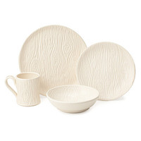 PORCELAIN FAUX BOIS DISHWARE COLLECTION