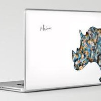Rhinoceros Laptop &amp; iPad Skin - Print Shop