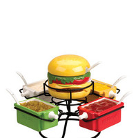 BOSTON WAREHOUSE N/A 12-Piece Condiment Thrill of the Grill Set