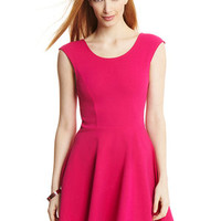 MAISON BLANCHE Fuchsia Cap Sleeve Skater Dress