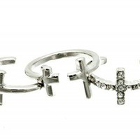 CROSS KNUCKLE RING SET