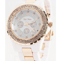 Crystallized White Watch