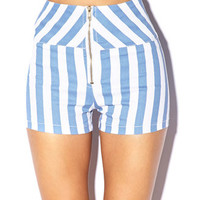 High-Waisted Vertical Stripe Shorts | FOREVER 21 - 2000051338