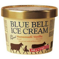 Blue Bell Homemade Vanilla Ice Cream 64-oz.