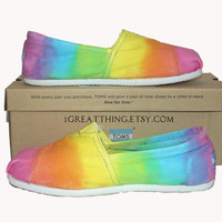 TOMS Tie Dye Shoes  - pastel colors - hand dyed and custom made by One Great Thing :)