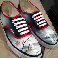 Custom Painted Vans Authentics With Laces (Mens)