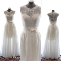 Custom Wedding Dress-Judy Gown-Made to order in light ivory, blush or champagne