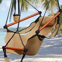 New Deluxe Tan Sky Air Chair Swing