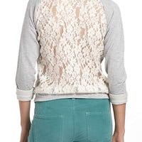Anthropologie - Astern Lace Sweatshirt