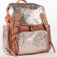 Luxcessories Pieced Sequin Backpack - Women's Bags | Buckle