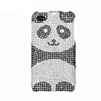 Handmade hard case for iPhone 4, 4S & 5: Bling Panda (custom order are welcome)