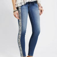 Urban Outfitters - Sold Design Lab Embroidered Soho Skinny Jean
