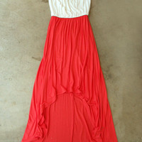 Coral Breeze Colorblock Maxi [4084] - $42.00 : Vintage Inspired Clothing & Affordable Summer Frocks, deloom | Modern. Vintage. Crafted.