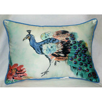 Betsyâ??s Peacock Large Outdoor Pillow