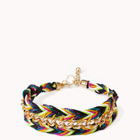 Curb Chain Woven Friendship Bracelet | FOREVER 21 - 1047977364