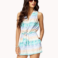 Multi-Colored Tribal Print Romper